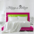 Always and Forever Birds Vinyl Art Home Room Wall Quote Decal Sticker Decor