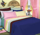 LUXURY POLY COTTON FITTED SHEET SINGLE: DOUBLE: 4FT: KING: SUPER KING: