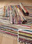 Fair Trade Indian Rag Rug Mat Colourful 100% Cotton : Ideal Gift For Home [NEW]