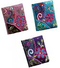 Embroidered Sequin Small Notebook Journal Fair Trade Girl Woman Ladies 9x11cm