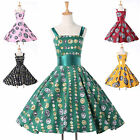 Vintage Rockabilly Retro Swing 50s 60s pinup Housewife Evening Dress XS S M L XL