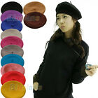 LADY POLISHED WOOL WINTER GIRL BERET FRENCH ARTIST BEANIE HAT SKI CAP 12 COLORS