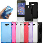 S Line Soft Gel TPU Silicone Wave Slim Case Cover Skin For Sony Xperia M2 S50h