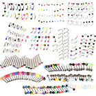 FANCY 20X RHINESTONE EYEBROW NOSE LIP TONGUE BELLY NAVEL BUTTON BEAUTY BODY RING