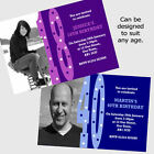 Personalised 18th 21st 30th 40th 50th 60th Birthday Party Photo Invitations