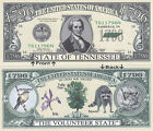 1796 U.S.A. State of Tennessee TN Novelty Bill Notes 1 5 25 50 100 500 or 1000