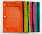 Pencil Pouch for 3-Ring Binder - You Choose Color-Orange, Green, Pink, Blue, Red