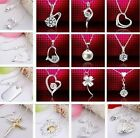 925 British Sterling Silver Necklaces & Bracelets & Earrings -Plus Free Gift Bag