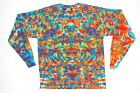 Adult Long Sleeve TIE DYE Rainbow Blotter T Shirt sm med lg xl hippie boho gypsy