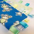 BLUE JUNGLE ANIMALS ~ Baby Security Blanket Toy + FREE Dummy/Taggie/Sophie Saver