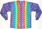 Adult TIE DYE Neon Rainbow DNA 5X 6X Long Sleeve T Shirt art grateful dead