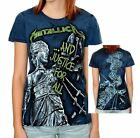 Metallica And Justice For All metal rock Girls fitted tee T-Shirt XL NWT
