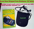 Korjo L Zip Around Waist&Neck Pouch Passport Card Phone Money Case Travel Wallet