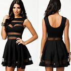 ❤Cheap❤ 2Colors Ladies Sexy Sheer Backless Sleeveless Party Prom Short Dress Hot