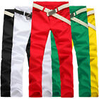 Popular Men's Cosie Candy Color Slim Fit Casual Pants Tight Stretch Pencil Jeans