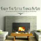 ENJOY THE LITTLE THINGS wall quote transfer graphic vinyl large sticker niq39