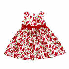 NEW Baby Girls Cotton Dress Size 000-4 with Flowers Red