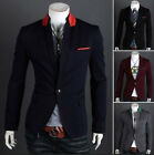 NEW 2014 Sexy Men's Slim Fit Suit One Button Business Casual Blazer Coat Jacket