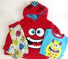 BOY`S 3 PIECE PJ FLEECE SET BEAUTIFULL RED  COLOR