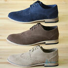 Mens Smart Casual Faux Suede Brogues Office Shoes Size 7 8 9 10 11 RRP £29.99