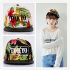 Tokyo Style Hawaii Leaf Embroidery Acrylic Snapback Adjustable Hat Baseball Cap