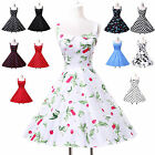 In London Vintage Dress 1950s 1960s Party Polka Dot Evening Pin Up Swing Dresses