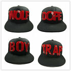 New Unisex Snapback Adjustable Hat 3D Red Word Acrylic Rivet Spike Baseball Cap
