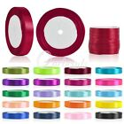 "Satin Ribbon 25 50 Yard Roll 1/8"" 1/4"" 3/8"" 5/8"" 3/4"" 1"" 11/2"" 2"" Wholesale Lots"