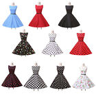 UK CHEAP Vintage 50s 60 Housewife Party Polka Dot Rockabilly Swing Retro Dresses
