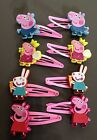Girls hair clip Character(2x) Peppa Pig, or George Pig,Rebecca Rabbit, 4 designs