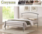 NEW Berlin Metal Bed Frame Silver - 3ft Single / 4ft6 Double