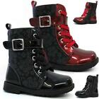 GIRLS BIKER BOOTS NEW INFANTS KIDS FASHION ANKLE WINTER RIDING SCHOOL SHOES SIZE