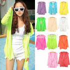 Summer Hooded Sun Protection Sunscreen Anti-UV Long Sleeve Tops Blouses Cardigan