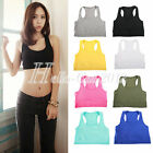 New Sport Bra Fitness Exercise Yoga Workout Sleeveless Stretch Seamless Tank Top