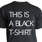 "Nukular T-Shirt Motiv ""THIS IS A BLACK T-SHIRT"" lustig Fun Spruch Design Ironie"