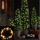 2 Set USB Powered Star Fairy Lights with 40 Micro Warm White Leds on Silver Wire