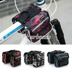Outdoor Sport Waterproof Bicycle Double Pannier Mountain Frame Front Tube Bags