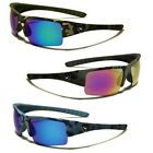 Polarized Camo Sunglasses Half Frame Fishing Golf Men's Sport Mirrored Glasses
