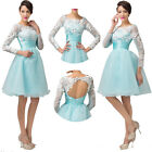 Illusion Quinceanera Short Dresses Formal Prom Wedding Gowns Evening Party Dress