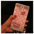 Baby Pink Sexy Lips Bling Diamond Case Cover For Samsung Galaxy S5 V i9600 ZBALP