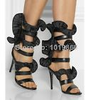 RUFFLES Celebrity Runway GLADIATOR boots High Heel STILETTO Sandals Dress Shoes