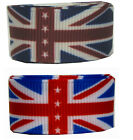 "9mm 3/8"" 16mm 5/8"" 25mm 1"" Union Jack Premium Grosgrain Ribbon British Flag Eco"