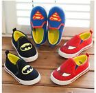 NEW Kids Canvas Shoes Boys Cartoon Sneakers Baby Toddler Slip-On Size5.5-12