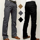 New Men's Casual Pants Slim Straight-leg Long Trousers 3 Colors 4 Sizes UK FO