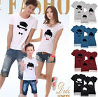 Lovers MOM DAD BABY Kids Family T-Shirt Summer Lycra Stretch Cotton DQYA6209