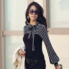 Stylish Women Office Clothing Wear to Work Long Sleeve Shirts Casual Blouses Top