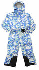 Boys Blue Camouflage Trespass All In One Thermal Ski Snow Suit 3 4 5 6 7 8 9 10