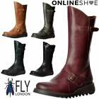 Womens Fly London Mes 2 Calf High Winter Boot Low Wedge Heel Cleated Sole Size