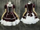 M-3118 S/M/L/XL/XXL rot red Gothic Lolita Cosplay Kleid dress Kostüm costume