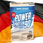 500g (31,80 €/kg) Body Attack Power Protein 90 /  Eiweiss, L-Carnitin, BCAA